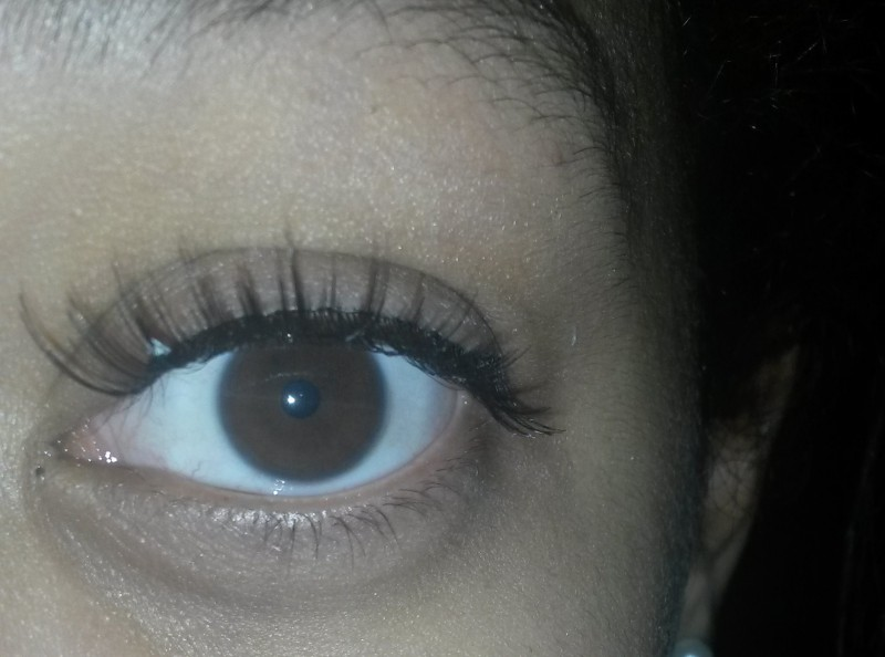 90133684613 Eylure false lashes.jpg. The effect of the Eylure eyelashes. To this (see  what i mean by whitey glue)