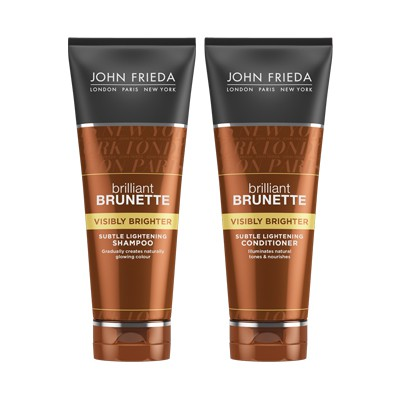 john frieda john frieda brilliant brunette visibly brighter shampoo and conditioner review. Black Bedroom Furniture Sets. Home Design Ideas