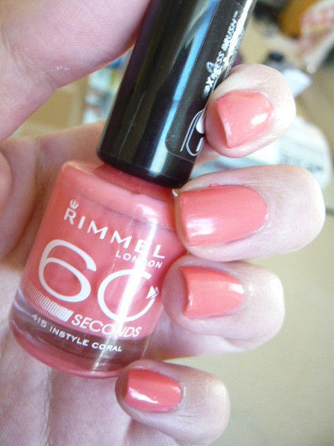 Rimmel - Rimmel 60 Seconds Nail Polish in 415 Instyle Coral Review ...