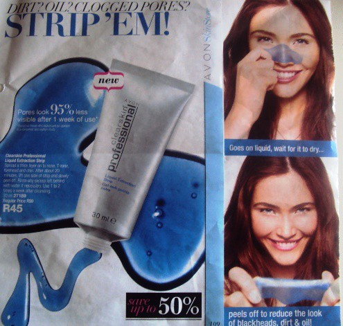Avon Avon Clearskin Professional Liquid Extraction Strip Mask Review Beauty Bulletin Face Masks