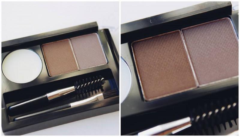 Nyx Nyx Eyebrow Cake Powder Dark Brown Brown Review Beauty