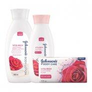 Johnson's® Vita-Rich Rose Water Body Care Range