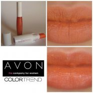 AVON Colortrend Lipstick (in Flirt) + Sunset lipgloss