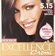 Loreal Paris excellence hair colorant in 5.15 iced brown