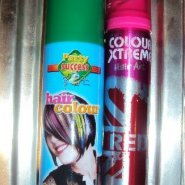 Party Success Hair Colour in Green and Colour Xtreme Hair Art in Red