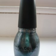 SinfulColors Professional Nail Polish – Deep Turquoise with Blue Shimmers