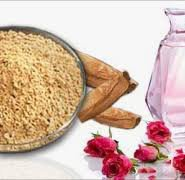 sandalwood and rose water face mask