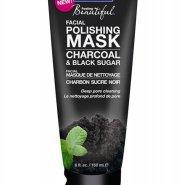Facial polishing mask with charcoal and black sugar