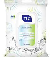 TLC Acne Wash Cleansing Facial Wipes