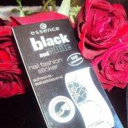 Essence Black and White Self-Adhesive Nail Fashion Stickers