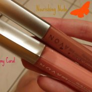 Avon - Ultra glazewear absolute lipgloss - Nourishing nude and Creamy Coral