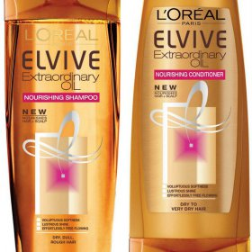 L'Oreal Elvive Extraordinary Oil Nourishing Shampoo and Conditioner
