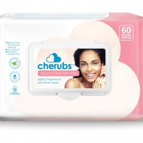 Cherubs Eco-Care Make-Up Remover Facial Wipes for Oily / Combination Skin