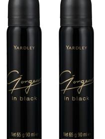 Yardley Gorgeous in Black perfumed body spray