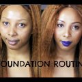 MY FOUNDATION ROUTINE |  + Highlight & Contour