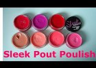 Sleek Pout Polish review and lip swatches