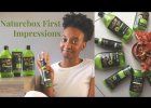 NATURE BOX FIRST IMPRESSIONS   VEGAN NATURAL HAIR AND BODY PRODUCTS   SOUTH AFRICAN YOUTUBER