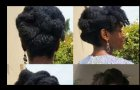 4C Natural Hair l Hairstyles l Roll & Tuck Updo l Nigerian / South African Youtuber