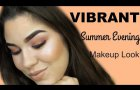 Vibrant Summer Evening Makeup Look   Cassandra da Silva