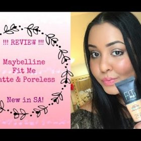 Review !!! - Maybelline Fit Me Matte & Poreless Foundation|| New In South Africa