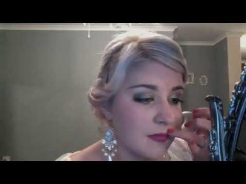 Gatsby make-up tutorial 1920's